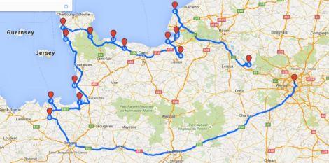 mapa francja wakacje